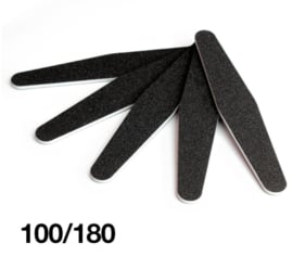 zwarte vijl trapeze zwart 100/180 grit budget 25 stuks