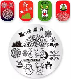 kerst plate XY-loveley 35