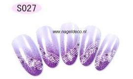 nagel sticker S027 black&white