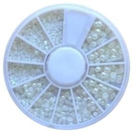 wheel parels wit 3 maten (vanaf 25 euro aan artikelen - EXCLUSIEF verzendkosten)