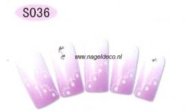 nagel sticker S036 black&white
