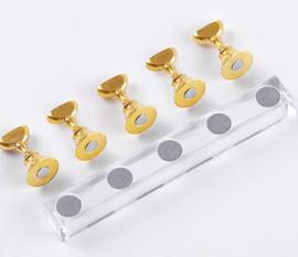 luxe magnetische display gold