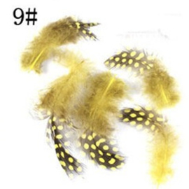 veertjes geel 5 stuks