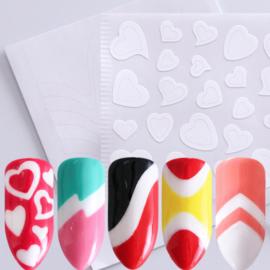 set van 22 manicure stickers