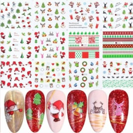 12 kerst water decal stickers (A3)