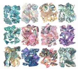 box sea shell stukjes multi
