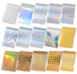 transferfolie goud/zilver 15 designs