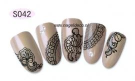 nagel sticker S042 black