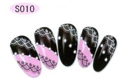 nagel sticker S010 black&white