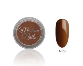 color acryl brown nr. 8 - 10ml