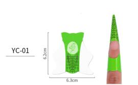 nagelsjablonen groen 50 stuks