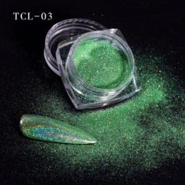 magic laser chrome pigment lt green 03