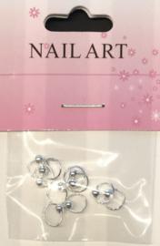 piercing silver color 10 stuks