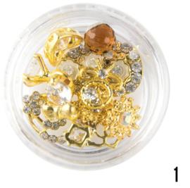 doosje nagel sieraden (goud 1)