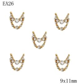 crystal deco (2) 5 stuks