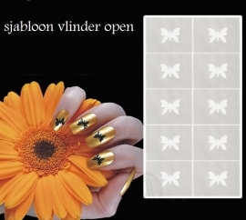 ND nails sjabloon 010 vlinder open