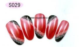 nagel sticker S029 black&white