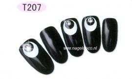 nagel sticker T207 white