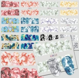 waterdecals marble 12 stuks