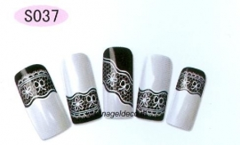 nagel sticker S037 white