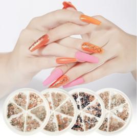 nagel sieraden metal flakes inlay box (zelf kiezen)