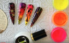 stempelen met neon pigmenten (demo)