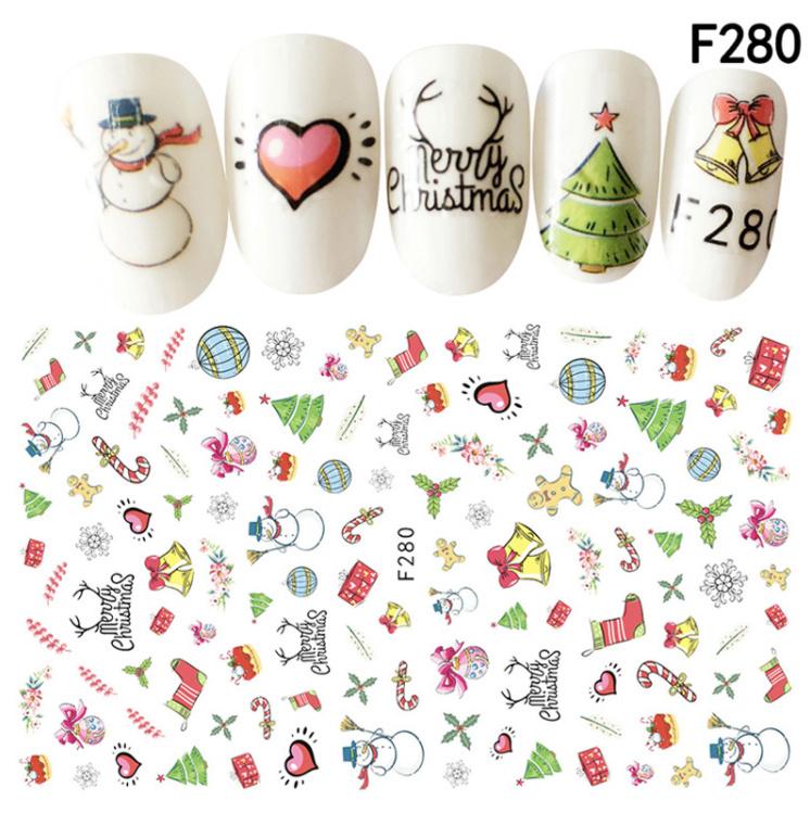 kerst sticker F280