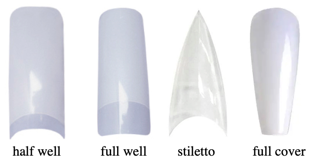 soorten nageltips