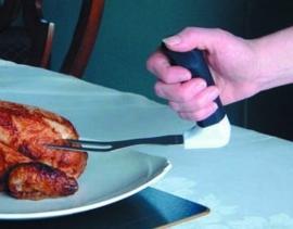 Easy-Grip prikvork met gehoekt handvat