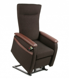 Sta-Op stoel / Relaxfauteuil Picasso, stof donkerbruin