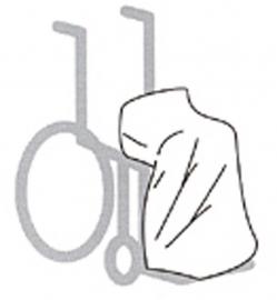 Schootskleed voor een rolstoel/scootmobiel