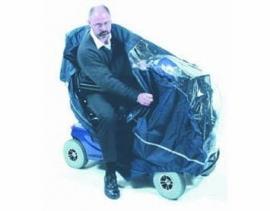Scootmobiel beschermer en cape voor 4-wieler
