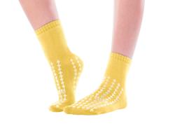 Antislip sokken geel