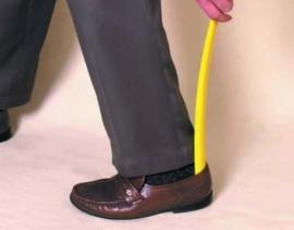 Lange plastic schoenlepel met haak