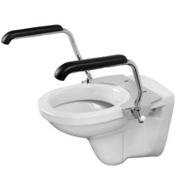 Toiletbeugelset Jadacare met armsteunen RVS