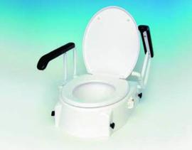 Toiletverhoger met armleuningen en deksel