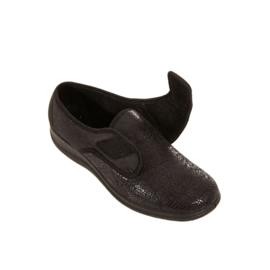 zachte stretch damesschoen Melina zwart