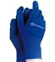 Handschoenen aantrekken steunkousen