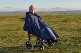Regencape of poncho gevoerd zonder mouwen