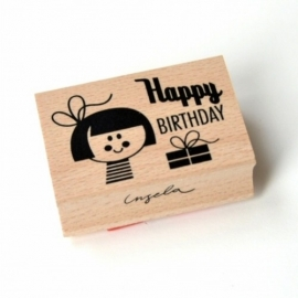 Ingela stempel happy birthday girl