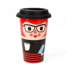 ingela travel mug lady