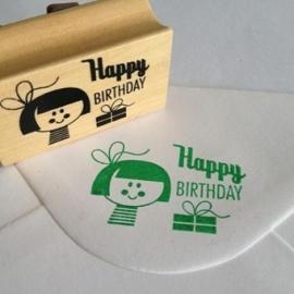 Ingela stempel happy birthday girl