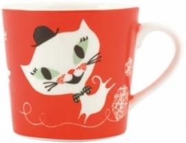 porcelain mug cat