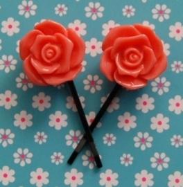 haarspeldjes met roos