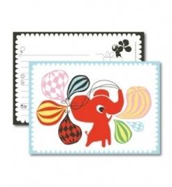 littlephant  A5 kaart olifant en ballonnen