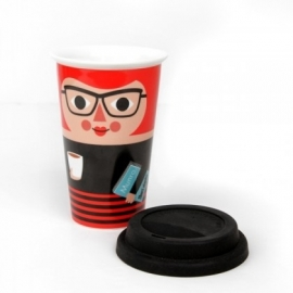 ingela travel mug lady