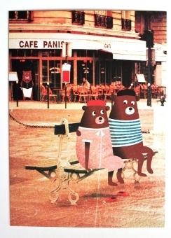 kaart friends from Paris
