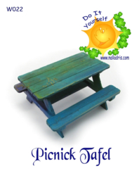 W022 DIY Picknick Tafel