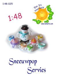1:48-025 Snowman Tea Set