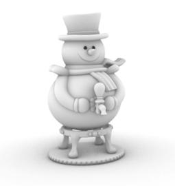 DIY Chocolate Snowman